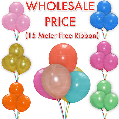 100 X WHOLESALE Latex PLAIN BALONS BALLONS helium BALLOONS Quality Party BALOONS