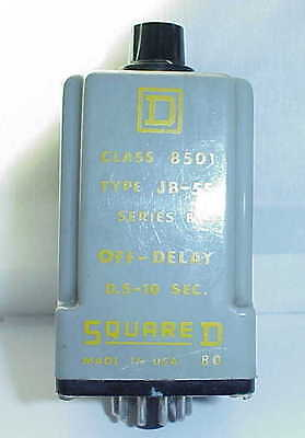Square D 8501 Jb-5S Solid State Timer Relay .5-10 Sec Off-Delay 120Vac  Series B