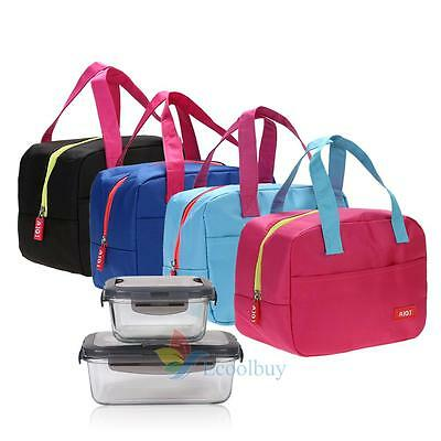 Portable Insulated Waterproof Lunch Box Bag Outdoor Picnic Carry Storage Tote