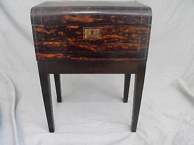 Antique 19th C. Inlaid Travel / Lap Desk with Stand