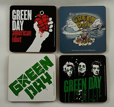 Set of 4 Collectable GREEN DAY Drinks Coasters. Officially Licensed, Man Cave