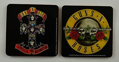 Pair of Iconic Guns n Roses Music Band Drinks Coasters. Officially Licensed, NEW