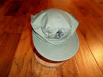 Marine Corps Style Utility Hat U.s.m.c  Military Od Green Cap Size X-Large 7 3/4