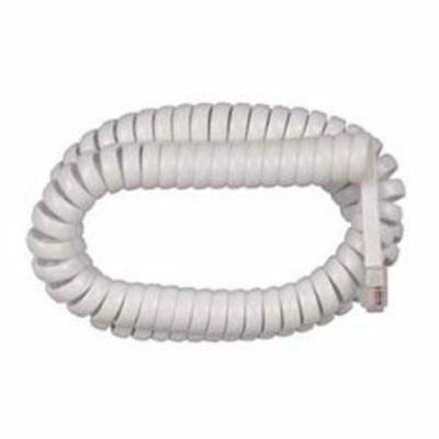 12-foot Coiled Phone Handset Cord - White