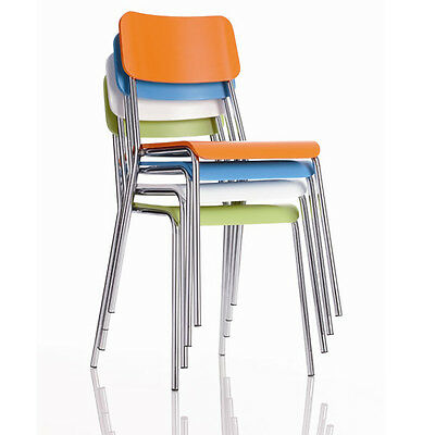 Reef Stacking Chairs from £64.23 ex VAT ! White/Blue/Orange & Green Tough&Strong