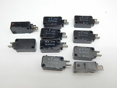 Mla-20M 3A 250V Normally Open Momentary Limit Snap Action Micro Switch -10Pieces