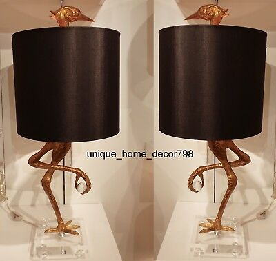 Pair ibis table lamp set black gold living room office bedroom pair ibis table lamp set black gold living room office bedroom crane 35 light aloadofball Gallery