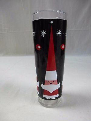 "Dairy Queen DQ Happy Santa Glass 7"" Tumbler"