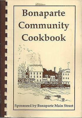 Bonaparte Ia 1992 Community Cook Book *history *recipes *iowa Community Sketches