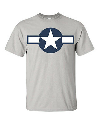 c769ac86 UNITED STATES ARMY Air Force Plane Insignia T Shirt WWII USAAF ...