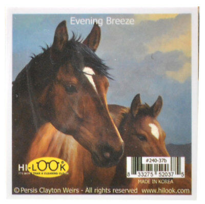 NEW Two Brown Horses Microfiber Glasses Cleaning Cloth Cleans Mobile Device Scre