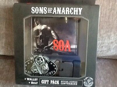 Sons Of Anarchy Gift Set Wallet And Belt Buckle And Belt New !!!!