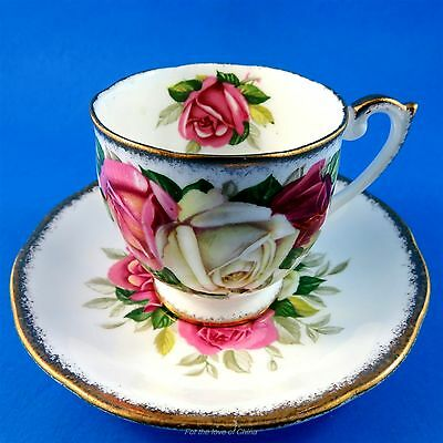 Queen Anne Lady Sylvia Demitasse Tea Cup and Saucer Set