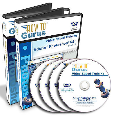 How To Gurus PHOTOSHOP CS5 Tutorial Training with Projects set 35 hrs 4 DVDs