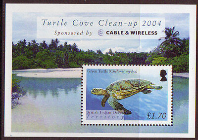 B.i.o.t. 2004 Turtles Miniature Sheet Unmounted Mint, Mnh