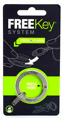 FreeKey System Group Your Keys Easy Access and Removal Chain Metal Ring Keychain