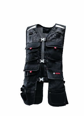 Bosch WHV 09 Professional Tool Vest Black By Bosch Professional Small