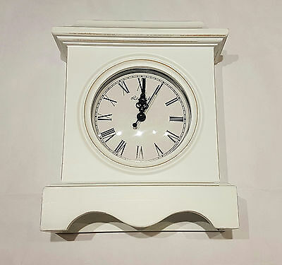 White Shabby Chic White Traditional Style Mantel Clock (LP29619)