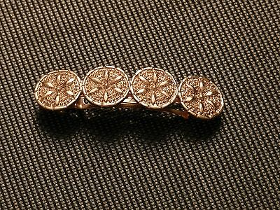 Vintage Gold Tone Hair Clip Made in France