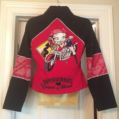 Betty Boop Women's Motorcycle Jacket Size Small Well-Made DARLING! New.