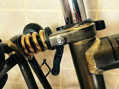 J&L Titanium/Ti Rear Coil Spring/Suspension Shock/Shox+Damper for Brompton