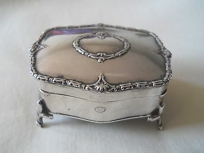 Absolutely Lovely Birmingham 1922 Sterling Silver Dresser Jewelery Box