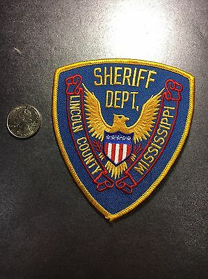 Lincoln County Mississippi Sheriffs Department Police Patch Ms
