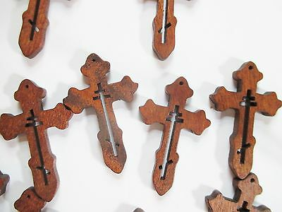 Wholesale Lot of 50 Small Wood Crosses, Very Detailed