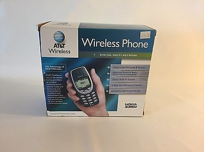 NOS AT&T Nokia 3360 Cell Phone Retro Like a Little Brick New In Box