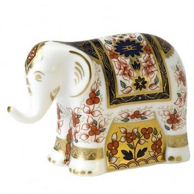 New Royal Crown Derby 1st Quality Old Imari Infant Elephant Paperweight