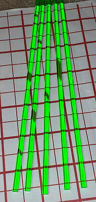 "5 Clear Green 1/4"" Diameter 18"" Inch Long Acrylic Plexiglass Plastic Color Rod"