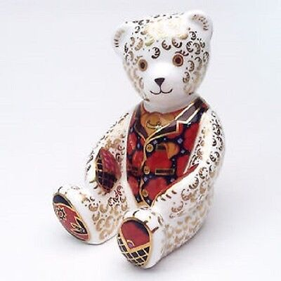 Royal Crown Derby 1st Quality Limited Edition Debonair Bear Paperweight