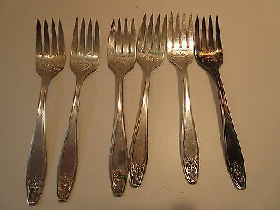 International Silver Lady Doris 6 forks silverplate flatware 916D