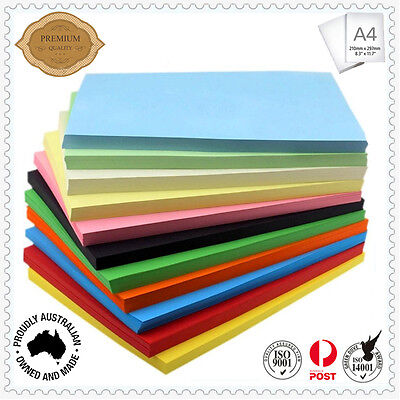100 x 200gsm A4 Coloured Card Cardboard Paper DIY Craft Handicraft- Premium Qlty