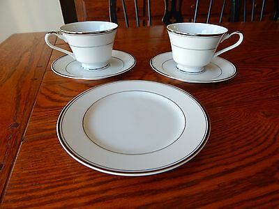 "2 Imperial China SINCERITY Cup and Saucer Sets 2 3/4"" w/ 1 Bread & Butter Plate"