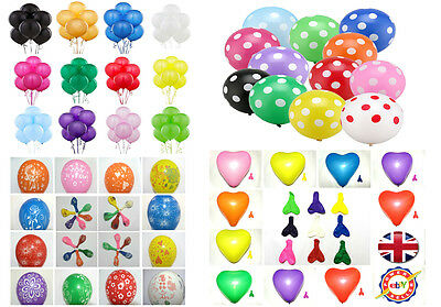 30 -100 Latex LARGE ✿ helium high Quality Party Birthday Wedding Balloons baloon