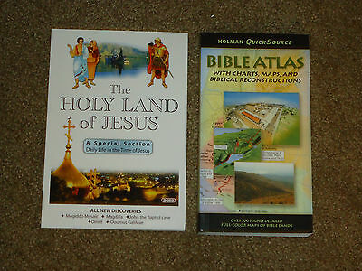 The Holy Land of Jesus & Bible Atlas Lot of 2