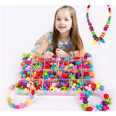 450 Pieces/Set DIY Colorful Beads Bracelet Kids Personalized Jigsaw Puzzle Toys