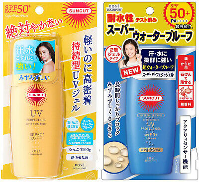 Kose Cosmeport SUNCUT Perfect UV Protect Gel SPF50+/PA++++ 80g or 100g Sunscreen