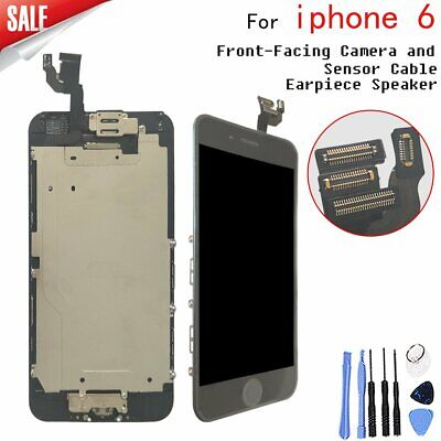 """Black Complete LCD screen Replacement+Home Button& Camera for iPhone6 4.7"""""""