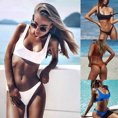 Sexy Women Swimwear Bandage Bikini Set Push-up Padded Bra Bathing Suit Swimsuit
