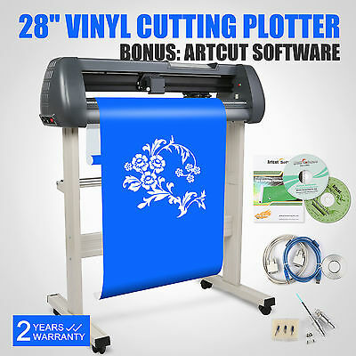 "28"" Vinyl Sign Cutting Plotter Cutter Craft Maker Printer Sticker 3 Blades"
