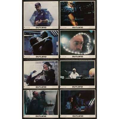 OUTLAND Lot of 8 11x14 Vintage Lobby Cards - 1981 Sean Connery