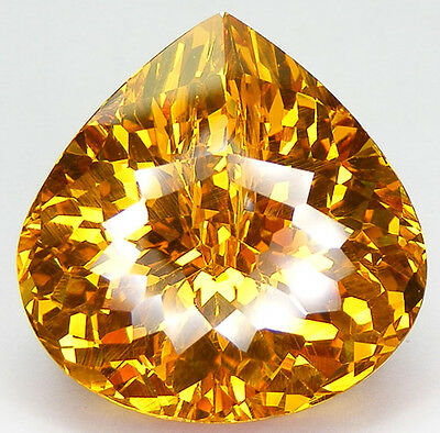 182,54Ct. Qualite De Collection Saphir Jaune Zirconia Cubique Cz Close Cut