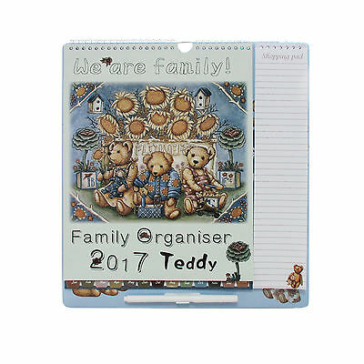 2017 Family Organiser Teddy  one month per page Calendar Pen ,Shopping pad
