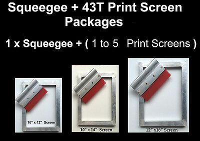 Screen Printing Screen 45T + Printing Squeegee  Sceen Printing Kit