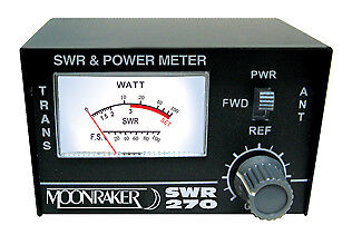 VSWR POWER METER - MOONRAKER SWR-270 100W DUAL BAND (120-500MHz)