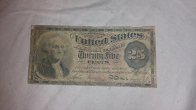 1863 4th Issue US Fractional Currency 25 Cents 25C