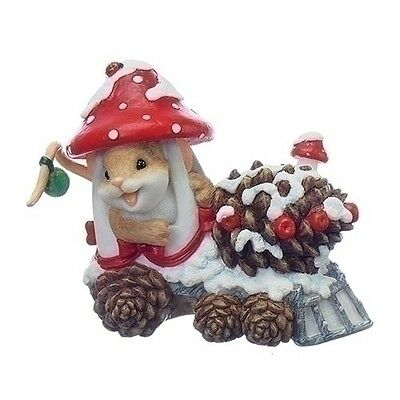 Charming Tails Christmas Mouse In Mushroom Acorn Train New 2017 130446