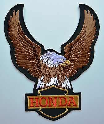 HONDA Eagle Motorcycles Cloth Iron On Patches  Aufnäher